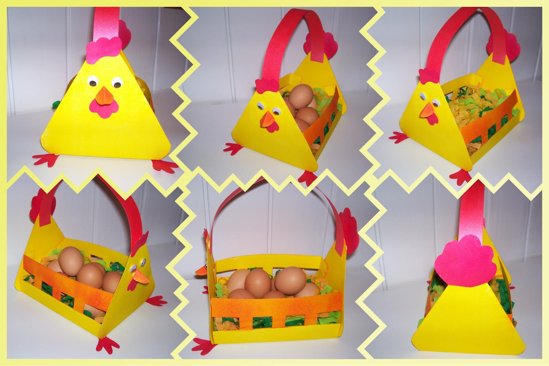 Panier poule pour Pâques 2009
