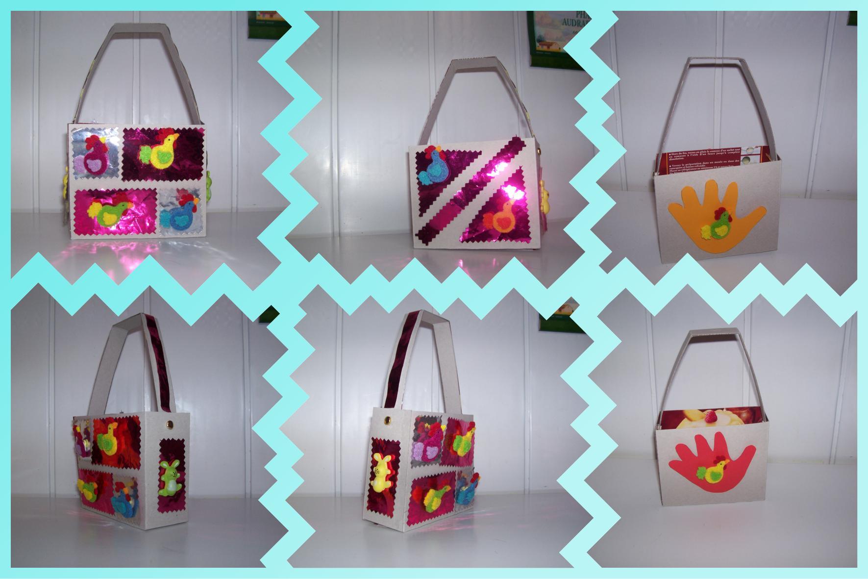 D corations du panier confectionn avec une bo te en carton centerblog - Decoration boite carton ...