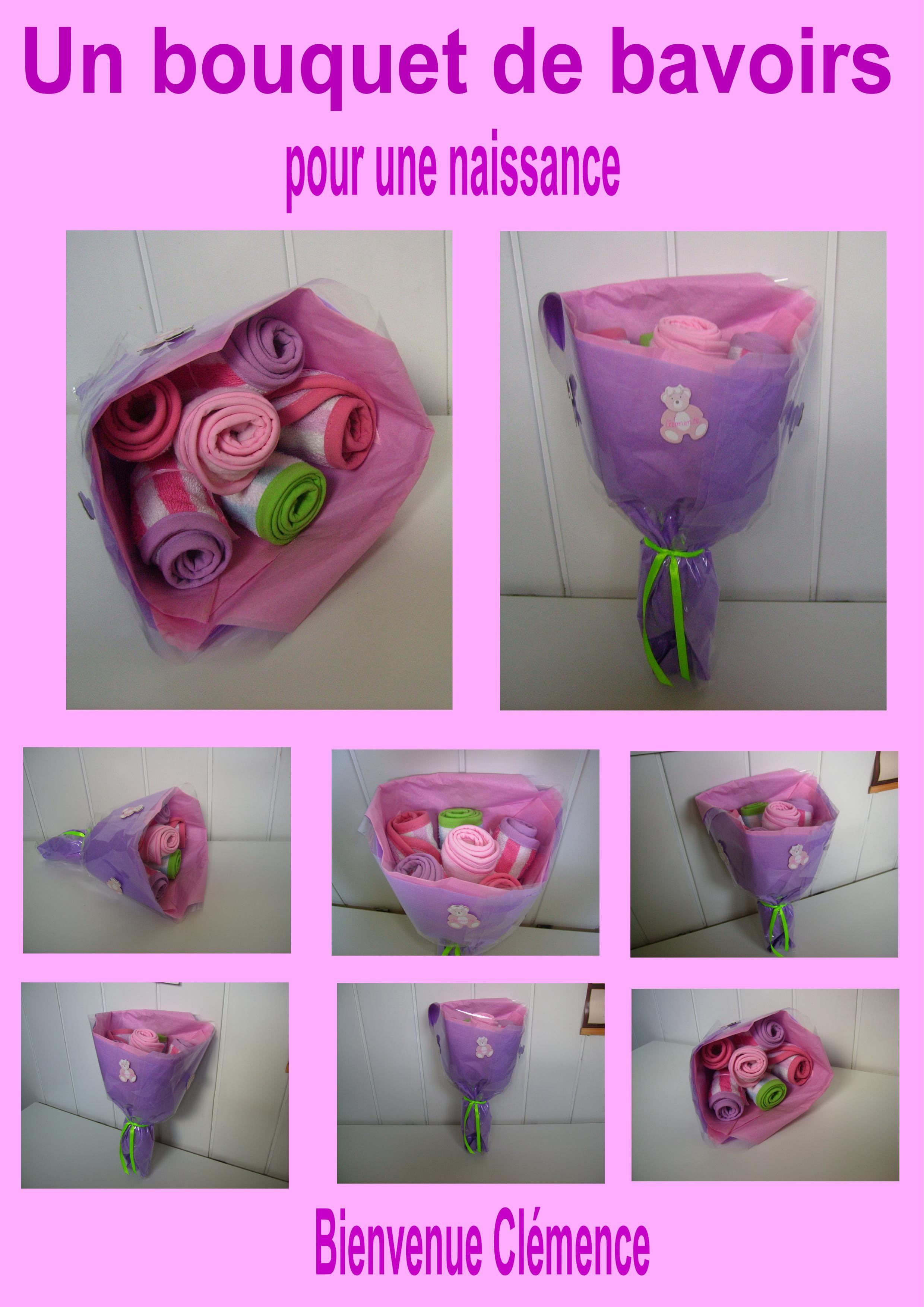 Un bouquet de bavoirs pour une naissance for Bouquet de fleurs pour une naissance